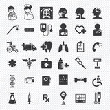 Medical and hospital icons set Stock Photo