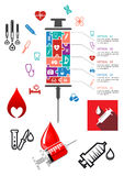 Medical and hospital infographics with icons Stock Photos