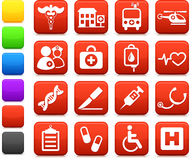 Medical hospital  internet icon collection Stock Photography