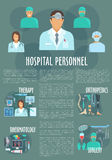 Medical or hospital personnel vector infographics Stock Photo