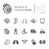 Medical & hospital related icons. Stock Images
