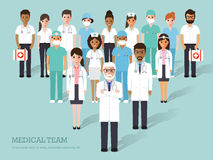 Medical and hospital staffs Stock Image