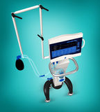 Medical hospital ventilator respiratory unit Stock Photography