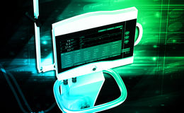 Medical hospital ventilator respiratory unit Stock Photo