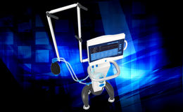 Medical hospital ventilator respiratory unit system Royalty Free Stock Photography