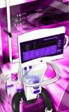 Medical hospital ventilator respiratory unit system Stock Image