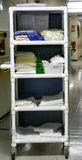 Medical Hygiene Cart. The medical staff are not only responsible for the medical needs of the patients Stock Images