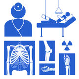 Medical icon. With x-ray images, doctor and patient, vector illustration Stock Image