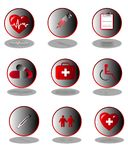 Medical icon collection Royalty Free Stock Photo