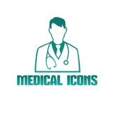 Medical icon with doctor therapist Royalty Free Stock Photography