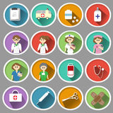 Medical icon in flat design Stock Image