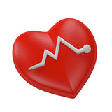 Medical icon heart. 3d render illustration medical icons series Royalty Free Stock Photos