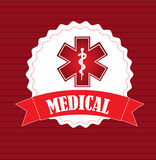 Medical icon. Over red background vector illustration Stock Photo
