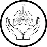 Medical icon. Protection of lungs. Stock Images