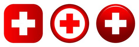 Medical icon red plus symbol Royalty Free Stock Photography