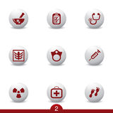 Medical icon series. Set of medical icons from a series Royalty Free Stock Images