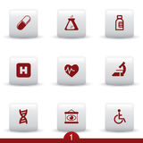 Medical icon series Royalty Free Stock Images