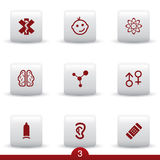Medical icon series. Set of medical icons from series Royalty Free Stock Images