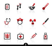 Medical icon series. Set of twelve medical web icons from series Stock Photos
