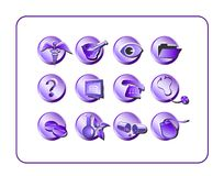 Medical Icon Set 1 - Purple Royalty Free Stock Images