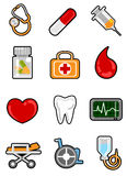 Medical icon set Stock Images