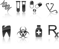 Medical icon set. Royalty Free Stock Photo