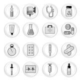 Medical icon set Royalty Free Stock Photography