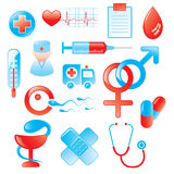 Medical Icon Set. Vector medical icons and design elements Royalty Free Stock Photo