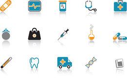 Medical Icon Set - Blue Stock Photography
