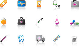 Medical Icon Set - Color Royalty Free Stock Photos