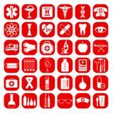 Medical icon set. Stock Photos