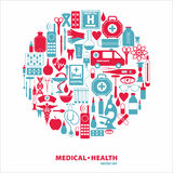 Medical icon set. Royalty Free Stock Image