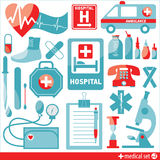 Medical icon set. Royalty Free Stock Images
