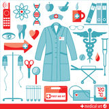 Medical icon set. Stock Photo