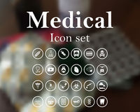 Medical icon set Stock Image