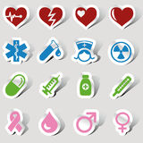 Medical icon set Royalty Free Stock Photo