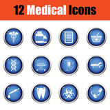 Medical icon set. Stock Images