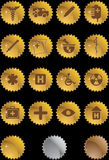 Medical Icon Set - Gold Label Royalty Free Stock Images