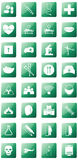 Medical icon set on green background. Essential Medical icon for working Royalty Free Stock Photography