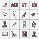 Medical icon set. Medical and hospital icon set. Emergency signs. Vector illustration Royalty Free Stock Image