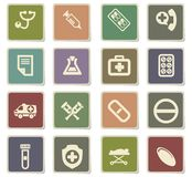 Medical icon set. Medical  icons for user interface design Stock Image