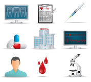 Medical Icon Set Royalty Free Stock Images