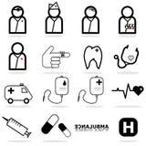 Medical icon set. Illustration Royalty Free Stock Photos