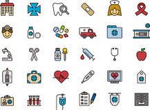 Medical icon set Stock Photos