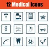 Medical icon set Stock Photo
