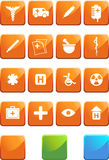 Medical Icon Set - Square Royalty Free Stock Photography