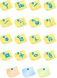 Medical Icon Set - Sticky Royalty Free Stock Photo