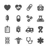 Medical icon set, vector eps10 Royalty Free Stock Photo