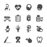 Medical icon set 5, vector eps10 Stock Photography