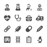 Medical icon set 4, vector eps10 Royalty Free Stock Images